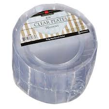 clear plastic plates discount member s 6 1 4 in clear plastic plates 70 count