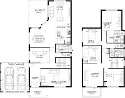double storey floor plans the indiana four bed two storey home design plunkett homes