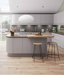 kitchen island base cabinet kitchen style contemporary retro kitchen design light gray curve
