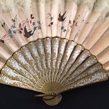 silk fan painted silk ostrich feather fan elizabeth emerson designs