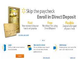 direct deposit card www walmartmoneycard enroll to walmart money card for direct