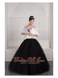 black and white quinceanera dresses modest black and white gown v neck quinceanera dress tulle
