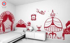 d oration princesse chambre fille sticker décor princesse stickers bébés enfants e glue deco