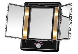 amazon com conair two sided lighted makeup mirror with 3 panels