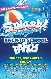 splash into the new year welcome back party djcc