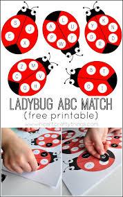 ladybug alphabet match activity with free printable i heart