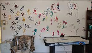 Wohnzimmer Streichen Muster Wand Streichen Ideen Kreative Wandgestaltung Freshouse