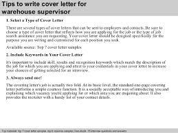 Resume Samples For Warehouse Trend Warehouse Supervisor Cover Letter Example 23 For Cover