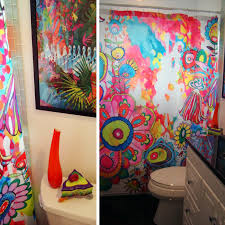 Pictures Of Shower Curtains In Bathrooms Colorful Bathroom Shower Curtain Deny Designs