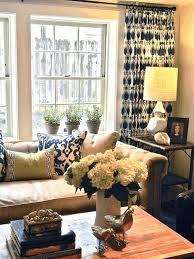 Blue Ikat Curtain Panels Blue Ikat Curtains Neutral Sofa Neutral Wall Color A Maple