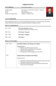Sample Resume Yang Terbaik by Cara Membuat Curriculum Vitae Yg Baik Virtren Com