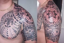 tribal shoulder tattoo complex tattoo on the shoulder and u2026 flickr