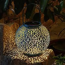 takeme solar lantern outdoor garden lights metal waterproof led
