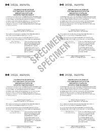 memorandum d20 1 4 proof of export canadian ownership and