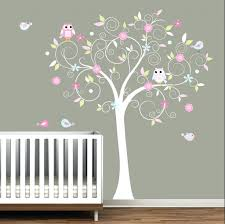 Tree Wall Decor For Nursery Nursery Room Tree Wall Decals Wall Decor Yellow And Grey Owl