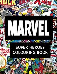 marvel super heroes colouring book super hero hero book