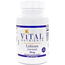 lithium orotate 20 mg 90 veg caps sexual health sleep