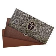 Creative Indian Wedding Invitations Indian Wedding Card In Brown And Golden Ganesha Design Wedding