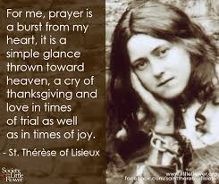 st therese daily inspiration a cry of thanksgiving
