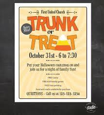 trunk or treat ideas trunk or treat printable flyer invitation