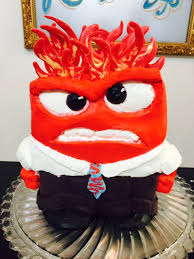 inside out cakes frosted inside out anger character cake cake