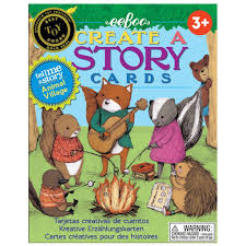 amazon com eeboo create and tell me a story cards animal village
