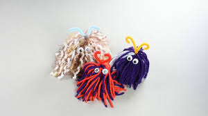 crafts for kids how to make a yarn monster youtube