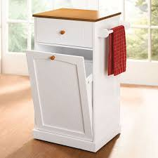 kitchen island with trash bin kitchen cart with trash can holder best interior ideas