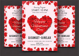 valentines flyer template valentines day psd flyer template flyer templates creative market