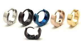 stud for ear aliexpress buy 4mm flat plain titanium earrings men