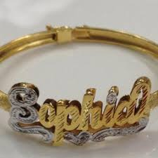 Gold Baby Name Bracelets Shop Baby Name Bracelet On Wanelo
