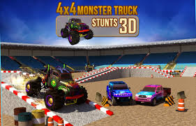 video monster truck 4x4 monster truck stunts 3d android gameplay hd youtube