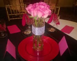 Flower Vases Centerpieces Rhinestone Vase Etsy