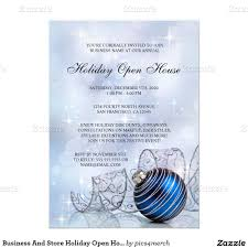 business and store holiday open house invitations creative