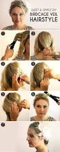 the perfect diy birdcage veil hairstyle more com