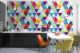 kitchen wallpaper designs 15 modern kitchen designs with geometric wallpapers rilane