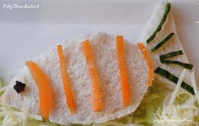 simply food novelty kids sandwiches fish shape with cheese filling