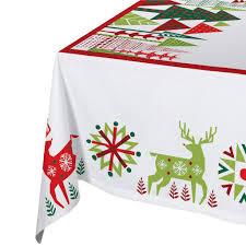 decoration nice geometric christmas tablecloth fun tablecloth