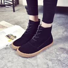 womens black boots size 11 us size 5 11 boots lace up toe casual outdoor