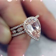 morganite pear engagement ring shop pear morganite rings on wanelo