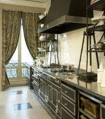 Parisian Kitchen Design Parisian Kitchen With Silver Pendants Kitchen Contemporary And