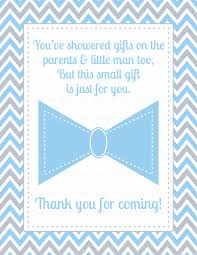 thank you favor sign for baby shower little man baby shower