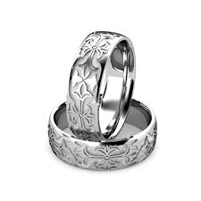 carved wedding band tribal wedding rings argentium silver mens carved wedding band