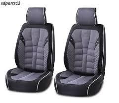 couvre siege cuir luxe pu en cuir auto siège de voiture couvre gris noir pour seat