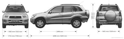 size of toyota rav4 the blueprints com blueprints cars toyota toyota rav 4 5