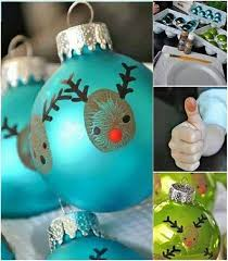 ideas diy easy thumbprint reindeer ornaments