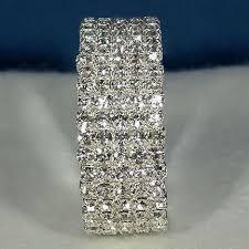 rhinestone cuff bracelet images Elektra 5 row swarovski crystal rhinestone flex cuff bracelet jpg