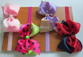 ribbon for hair 5inch printed big ribbon bows hair bow with soft headband
