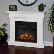 review real flame crawford electric slim line fireplace in white
