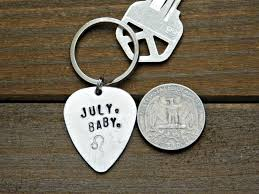 baby keychain july baby keychain leo zodiac sign gift birthday lion astrology guitar